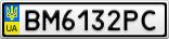 Номерной знак - BM6132PC
