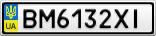Номерной знак - BM6132XI