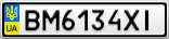 Номерной знак - BM6134XI