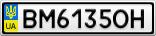 Номерной знак - BM6135OH