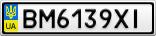 Номерной знак - BM6139XI