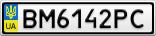 Номерной знак - BM6142PC