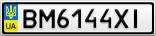 Номерной знак - BM6144XI