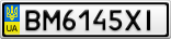 Номерной знак - BM6145XI