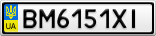 Номерной знак - BM6151XI