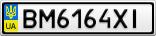 Номерной знак - BM6164XI
