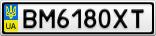 Номерной знак - BM6180XT