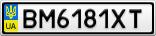 Номерной знак - BM6181XT