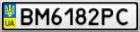 Номерной знак - BM6182PC