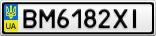 Номерной знак - BM6182XI