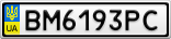 Номерной знак - BM6193PC