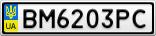 Номерной знак - BM6203PC