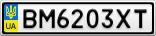 Номерной знак - BM6203XT
