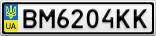 Номерной знак - BM6204KK