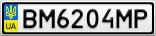 Номерной знак - BM6204MP