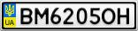 Номерной знак - BM6205OH