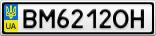 Номерной знак - BM6212OH