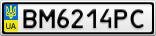 Номерной знак - BM6214PC