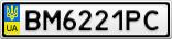 Номерной знак - BM6221PC