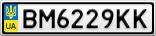 Номерной знак - BM6229KK