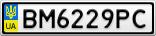 Номерной знак - BM6229PC