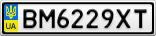 Номерной знак - BM6229XT
