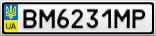 Номерной знак - BM6231MP