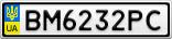 Номерной знак - BM6232PC