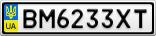 Номерной знак - BM6233XT