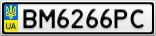 Номерной знак - BM6266PC