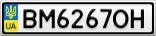 Номерной знак - BM6267OH