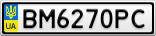Номерной знак - BM6270PC