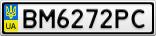 Номерной знак - BM6272PC