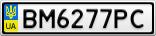Номерной знак - BM6277PC