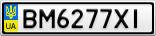 Номерной знак - BM6277XI