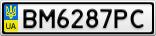 Номерной знак - BM6287PC