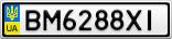 Номерной знак - BM6288XI
