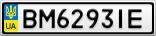 Номерной знак - BM6293IE