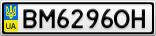 Номерной знак - BM6296OH