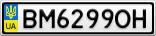 Номерной знак - BM6299OH