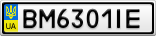 Номерной знак - BM6301IE