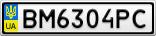 Номерной знак - BM6304PC