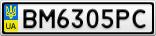 Номерной знак - BM6305PC