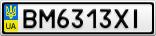 Номерной знак - BM6313XI