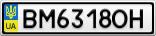 Номерной знак - BM6318OH
