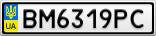 Номерной знак - BM6319PC
