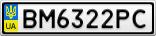 Номерной знак - BM6322PC