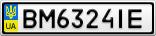 Номерной знак - BM6324IE