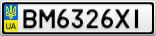 Номерной знак - BM6326XI
