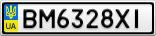 Номерной знак - BM6328XI